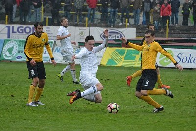 Fotbalisté ostravského Baníku odehráli v sobotu utkání 14. kola druhé ligy v Sokolově.