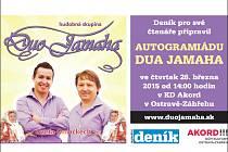 Duo Jamaha vystoupí v Akordu. Deník pro své čtenáře připravil autogramiádu.