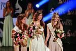 Vyhlášení české Miss 2018 v Gongu.Vítězky České Miss 2018, zleva druhá Jana Šišková, vítězka Lea Šteflíčková a třetí Tereza Křivánková