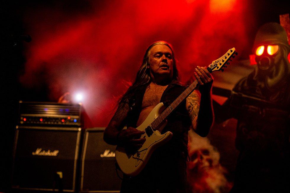 "Ostrava v Plamenech, 31. července 2021 v Ostravě. Kytarista Sodom Frank ""Blackfire"" Gosdzik."