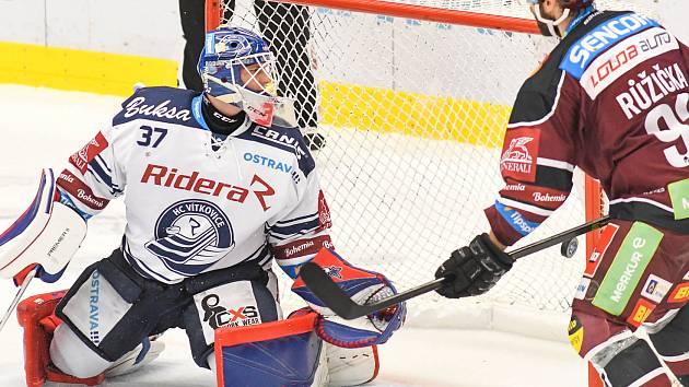 Utkání 9. kola hokejové extraligy: HC Vítkovice Ridera - HC Sparta Praha, 11. října 2019 v Ostravě.