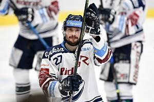 Utkání 51. kola hokejové extraligy: HC Vítkovice Ridera - HC Energie Karlovy Vary, 3. března 2020 v Ostravě. Rastislav Dej z Vítkovic.