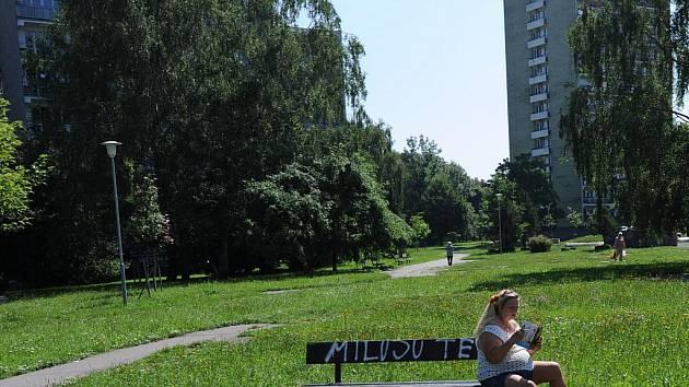 Park v nepříliš dobrém stavu se nyní nachází v zábřežské lokalitě za kinem Luna.
