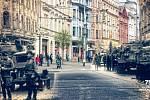 POHLED z křižovatky ulic 28. října a Sokolské třídy směrem k mostu Miloše Sýkory.