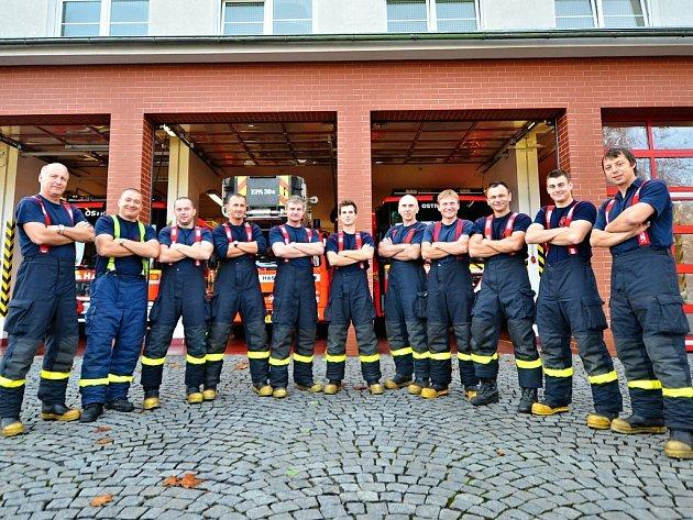 Profesionální hasiči z ostravské stanice Fifejdy