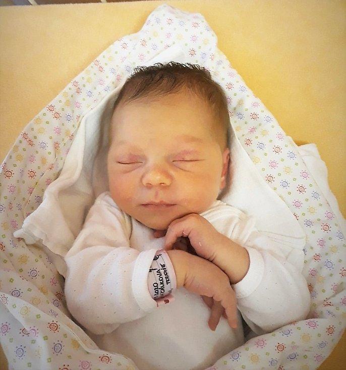 Terezie Jančálková se narodila 27. září 2020 ve Valašském Meziříčí, měřila 50 cm a vážila 3350 g. Bydlí v Mořkově. Foto: Ivana Kristková