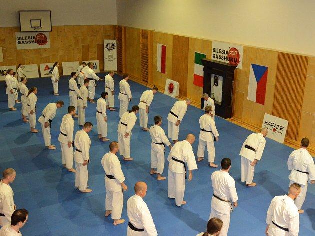 Karatistického semináře Silesia Gasshuku 2017 v Jeseníkách, se první červnový víkend zúčastnil také drobný osmasedmdesátiletý Shihana Masarua Miury, velmistr karate, který pocházejí ze staré japonské samurajské rodiny.