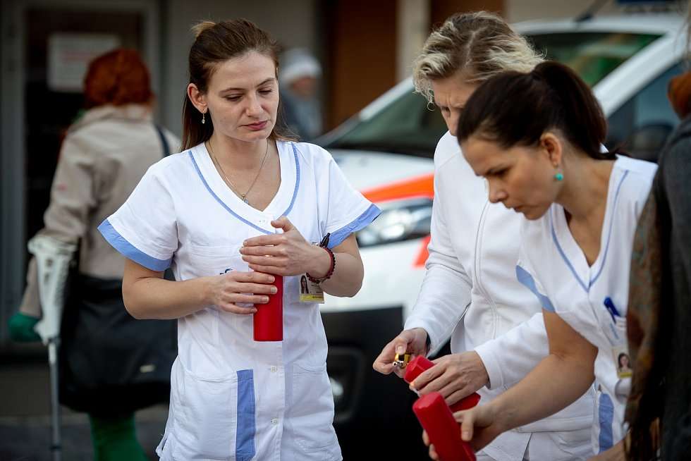 Den druhý po střelbě ve Fakultní nemocnici Ostrava (FNO), 11. prosince 2019 v Ostravě.