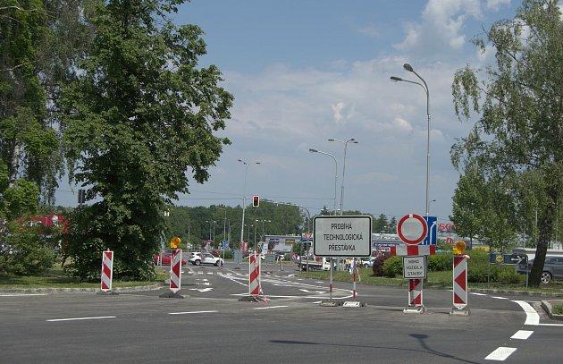 Situace vokolí křižovatky Mongolská - Sjízdná vOstravě-Porubě, 8.června 2021.
