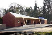 Vizualizace nové železniční zastávky Čeladná