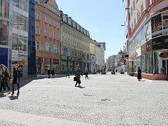 Ulice 28. řijna v centru Ostravy.