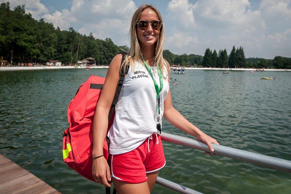Na snímku mistr plavčík Renáta Pastrňáková, letní koupaliště v Ostravě-Porubě .