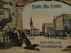 DOBOVÁ POHLEDNICE. Alkoholismus byl pro Moravskou Ostravu tak charakteristický, že se začátkem 20. století dostal dokonce i na pohlednice.