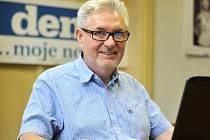 Kandidát na senátora Petr Koliba v redakci Moravskoslezského deníku.