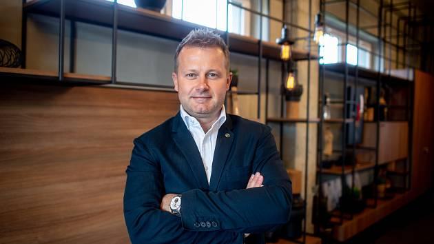 Šéf hokejových Vítkovic Aleš Pavlík poskytl rozhovor Deníku, 24. dubna 2019 v Ostravě.