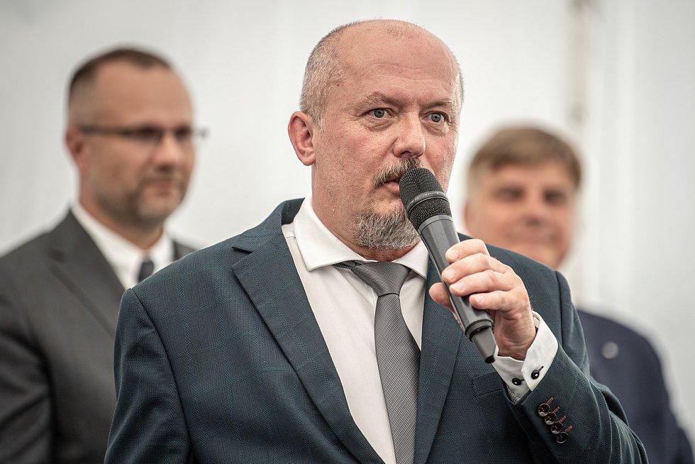 Slavnostní ceremoniál k začlenění Ekova Electric do skupiny Škoda Transportation, 9. srpna 2021 v Ostravě. Předsedou představenstva a ředitelem EKOVA ELECTRIC a.s. Miroslav Mareš.