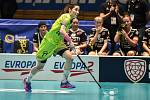 Pohár mistrů ve florbalu, o 3. místo (ženy): 1. SC Vítkovice - SB-Pro Nurmijarvi, 12. ledna 2020 v Ostravě. Na snímku Zuzana Krzywak.