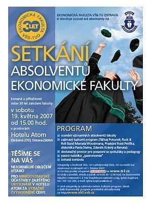 Plakát k setkání absolventů Ekonomické fakulty VŠB-TU