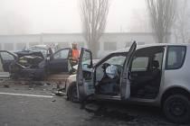 Nehoda dvou aut na Polanecké ulici v Ostravě