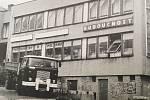 Zastaralé a nevyhovující obchody v centrální části Krásného Pole byly v roce 1974 zbourány a nahrazeny moderním nákupním střediskem Budoucnost.