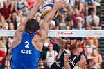 FIVB Světové série v plážovém volejbalu J&T Banka Ostrava Beach Open, 1. června 2019 v Ostravě. Čtvrtfinále ČR - Brazílie. Na snímku Alison Cerutti (BRA).