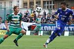 Zápas fotbalové Fortuna ligy mezi Bohemians Praha 1905 a FC Baníkem Ostrava v Ďolíčku 13.srpna.