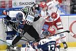 Utkání 16. kola hokejové extraligy: HC Vítkovice Ridera - HC Oceláři Třinec, 15. února 2021 v Ostravě.