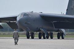 Dny NATO 2018. Americký bombardér B-52H Stratofortress.