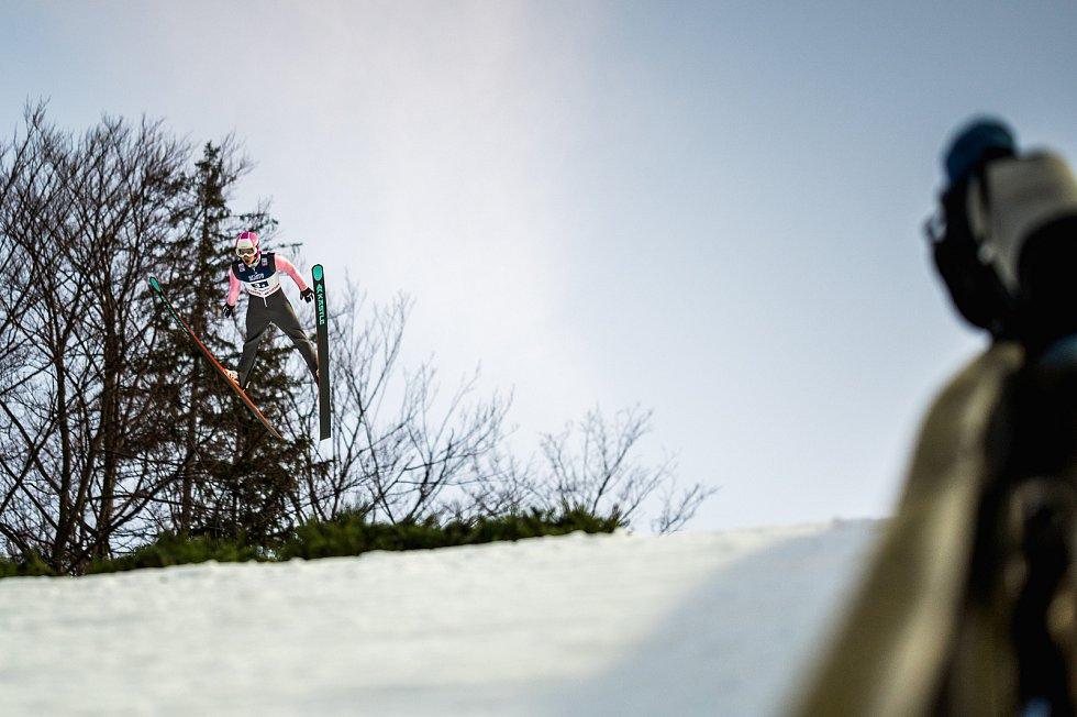 Skoky na lyžích - Světový pohár FIS ve skoku na lyžích - Wisla, Polsko, 23. listopadu 2019. Na snímku Sakala (CZE).