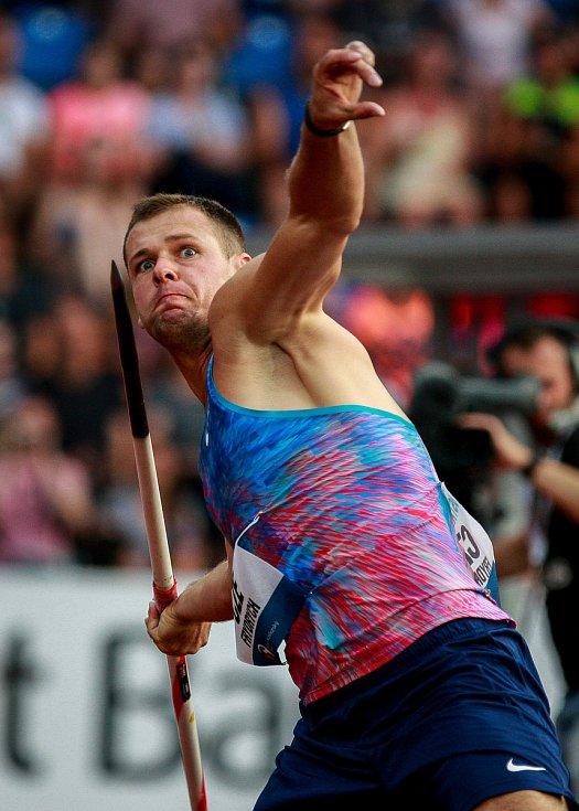 56. ročník atletického mítinku Zlatá tretra, který se konal 28. června 2017 v Ostravě. Na snímku Petr Frydrych.