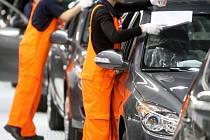 Pohled do výrobní haly automobilky Hyundai v Nošovicích