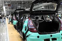 Z výrobní haly nošovického závodu automobilky Hyundai.