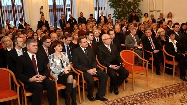 Prezident Václav Klaus při návštěvě Vítkova.