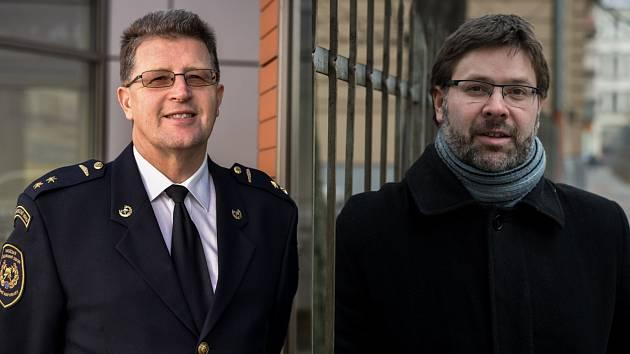 Vlevo Petr Kůdela, vpravo Marek Síbrt.