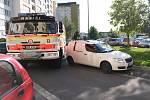 Kontrola průjezdnosti v Opavě.
