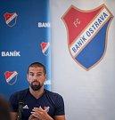 Předsezonní tisková konference FC Baník Ostrava, 10. července 2019 v Ostravě. Na snímku Milan Baroš.