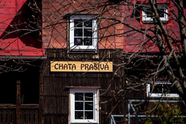 Chata Prašivá vBeskydech. Ilustrační foto.