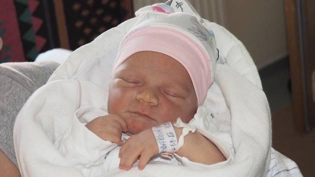 Natálie Rybářová, narozena 1. 9. 2020, váha 3970 g, míra 51cm, Rychvald. Fakultní nemocnice Ostrava.