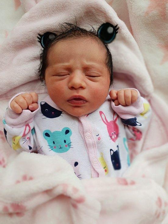 Sofie Štecová, Sádek, narozena 16. července 2021 v Opavě, váha 3090 g, míra 46 cm. Foto: Lucie Dlabolová