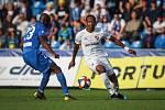Utkání 1. kola první fotbalové ligy: FC Baník Ostrava - FC Slovan Liberec, 13. července 2019 v Ostravě. Na snímku (zleva) Kamso Mara, Dame Diop.