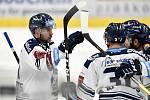 43. kolo hokejové extraligy mezi HC Vítkovice Ridera - HC Rytíři Kladno v Ostravě dne 2. února 2020. Na snímku (vlevo) Jan Schleiss z Vítkovic.