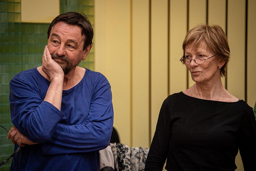 Herci z Národního divadla moravskoslezského (NDM) Tomáš Jirman (na snímku) a Anna Cónová (na snímku) natočili pro Ateliér při NDM vítězné pohádky či povídky z jarní literární soutěže. Děti ve dvou věkových kategoriích posílaly příběhy reflektující dění v