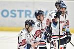 Utkání 32. kola hokejové extraligy: HC Vítkovice Ridera - PSG Berani Zlín, 4. ledna 2019 v Ostravě. Na snímku (střed) Patrik Zdráhal.
