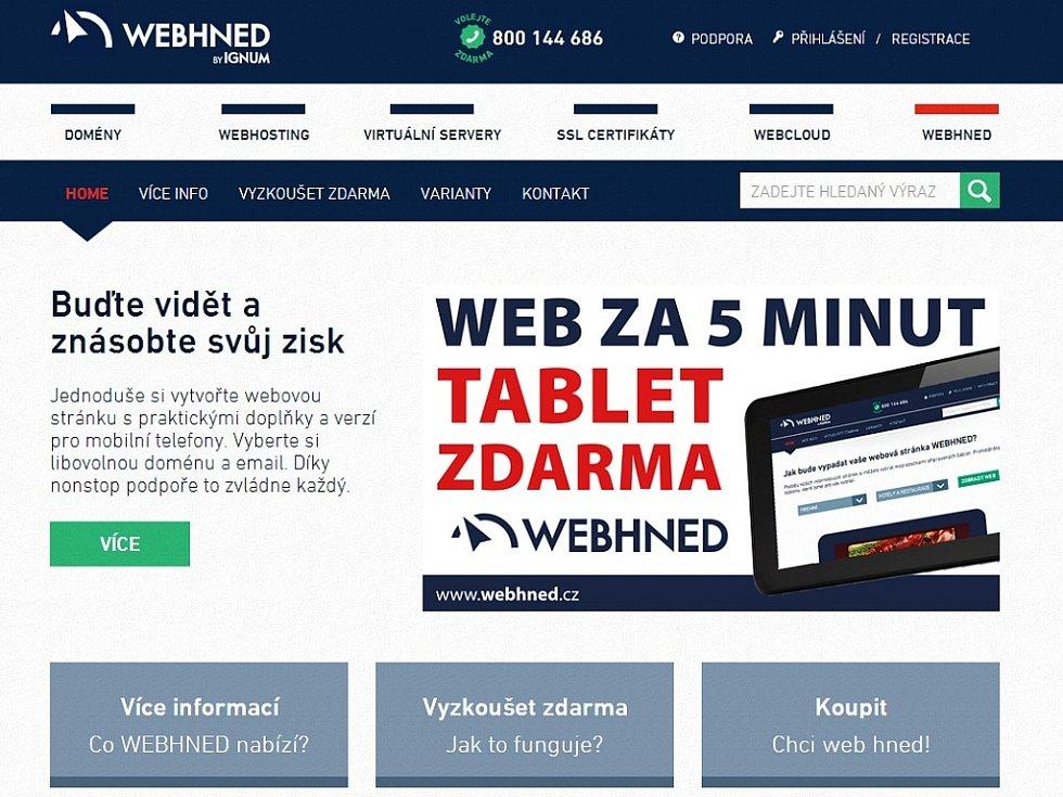 Úvodní stránka webu www.webhned.cz fa12a12d80
