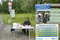 Zápis o označených kolech v Bělském lese .