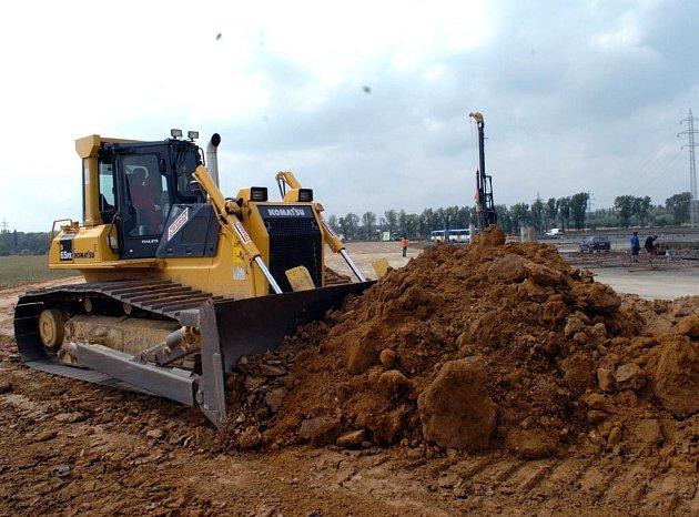 Stavba dálničního přivaděče v Ostravě