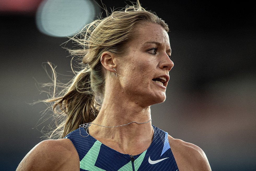 Zlatá tretra Ostrava - 59. ročník atletického mítinku, 8. září 2020 v Ostravě. Závod 150m ženy - Dafne Schippers.