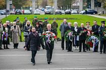 Vzpomínkový akt u příležitosti Dne válečných veteránů v Ostravě, sobota 11. listopadu 2017.