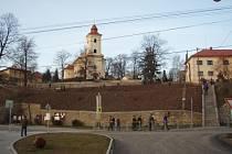 Pohled na kostel v Ostravě-Plesné