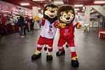 Maskoti mistrovství světa hokejistů do 20 let. Ilustrační foto.